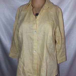 NWT Womens EDWARD Blouse - Yellow - Sz M